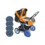 Чехлы на колеса коляски - Аксессуар для коляски.В комплект входит 4 чехла из капроновой ткани, с водоотталкивающей пропиткой. Теперь Вам не нужно мыть колеса каждый раз после прогулки.